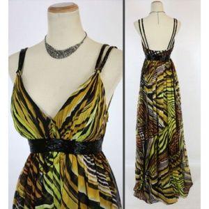 NEW MORRELL MAXIE Print Silk Chiffon Women Dress